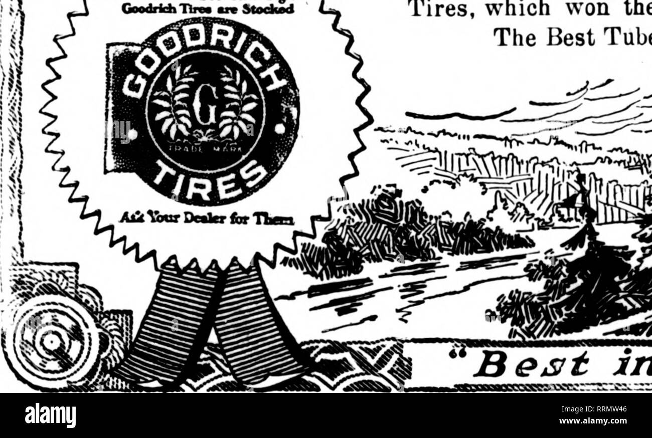 . Florists' review [microform]. Floriculture. 'K, vbtrt Toa Sm Tbis Sign L>> Coedridi'nrM an Steekad. HE Goodrich trade mark on Goodrich Black Safety Tread Tires is CERTIFICATION that thev are the best fabric tires made, tested and found the best on the roads of our nation. It certifies millions of Jmiles of wear and tear tests vouch for those matchless fabric tires—millions of miles of hard roughing it to try the souls of tires. It certifies that the UNIT MOLD, unbroken cure fabric con- struction, Goodrich always championed, has vindicated itself in the hardest test put to tires—the Goo - Stock Image