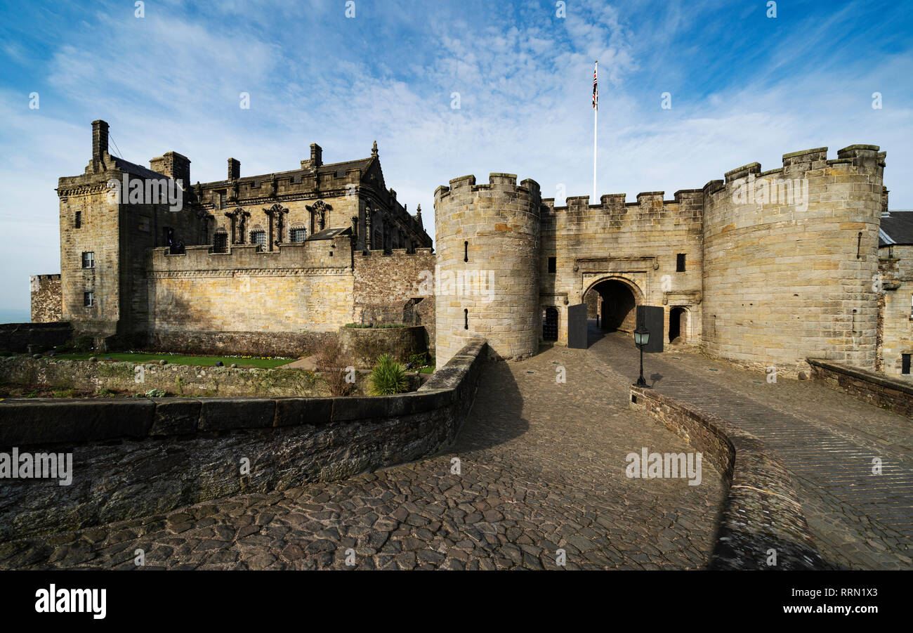 Stirling Castle in Stirling , Scotland, UK Stock Photo
