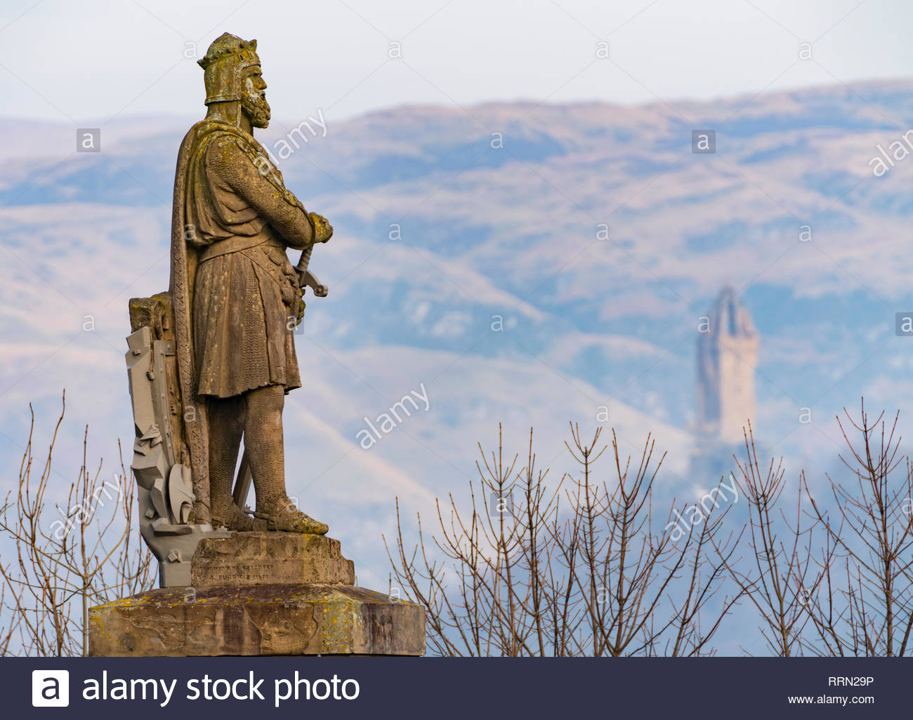 Statue of King Robert the Bruce at Stirling Castle, Stirling, Scotland, UK - Stock Image
