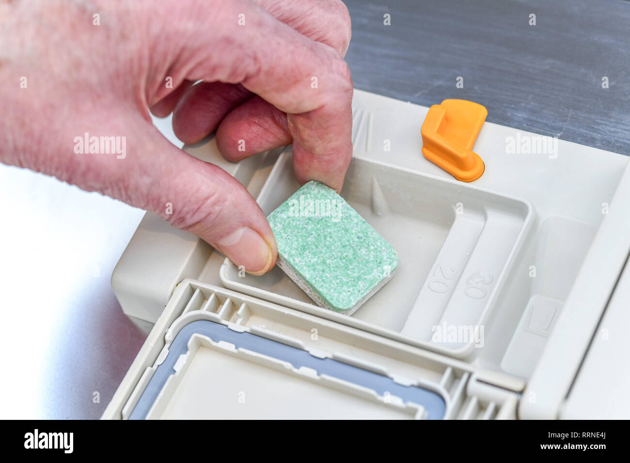 Tab., dishwasher, Tab, Geschirrspülmaschine Stock Photo