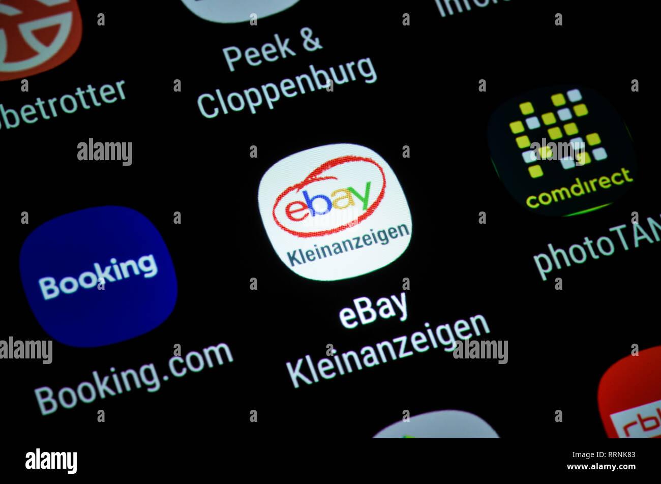 Smartphone Display Ext Ebay Classified Ads Display App Ebay Kleinanzeigen Stock Photo Alamy