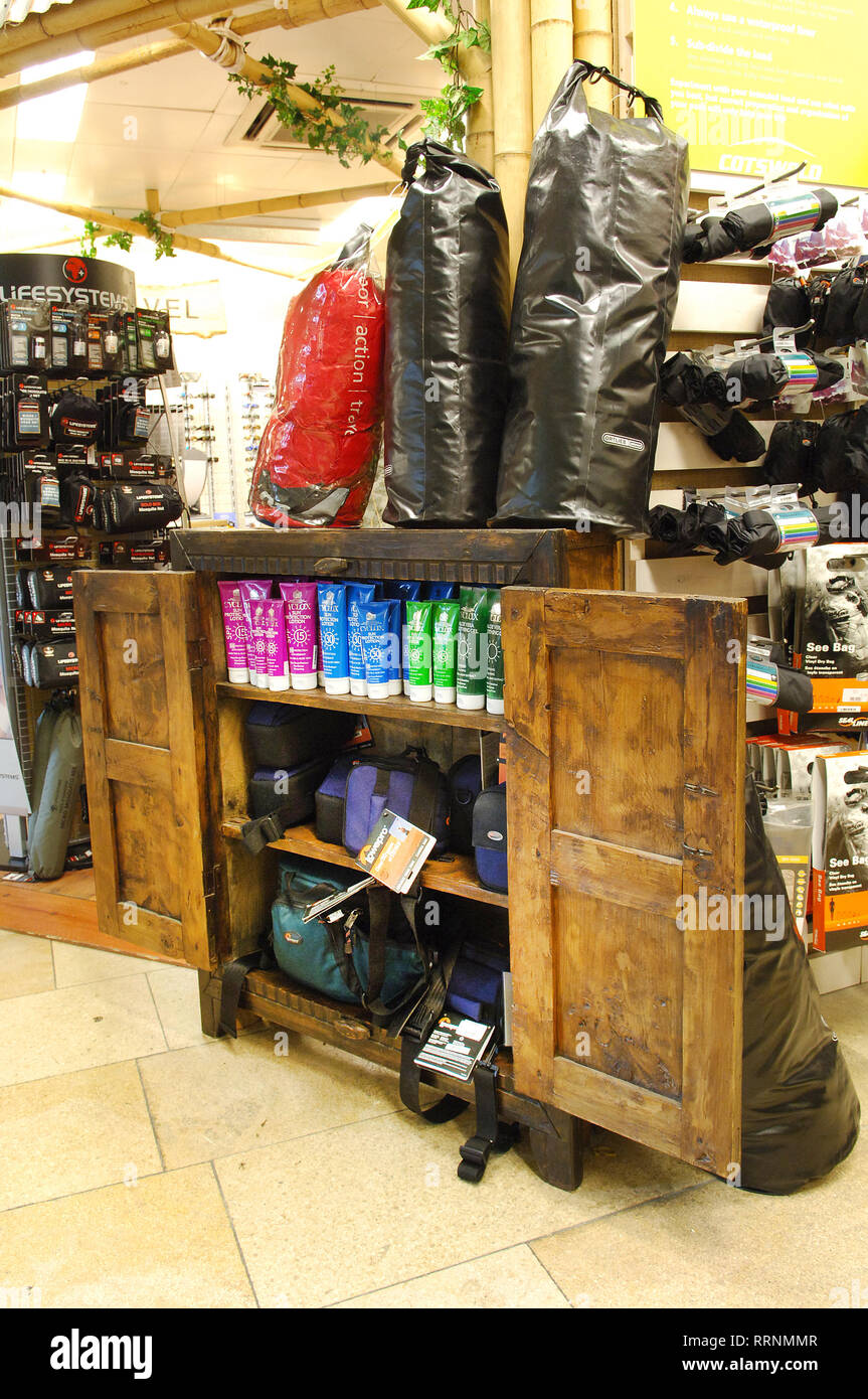 Camping Gear Climbing Equipment For Sale In Cotswold Outdoors Cotswold Outdoor Shop Stock Photo Alamy