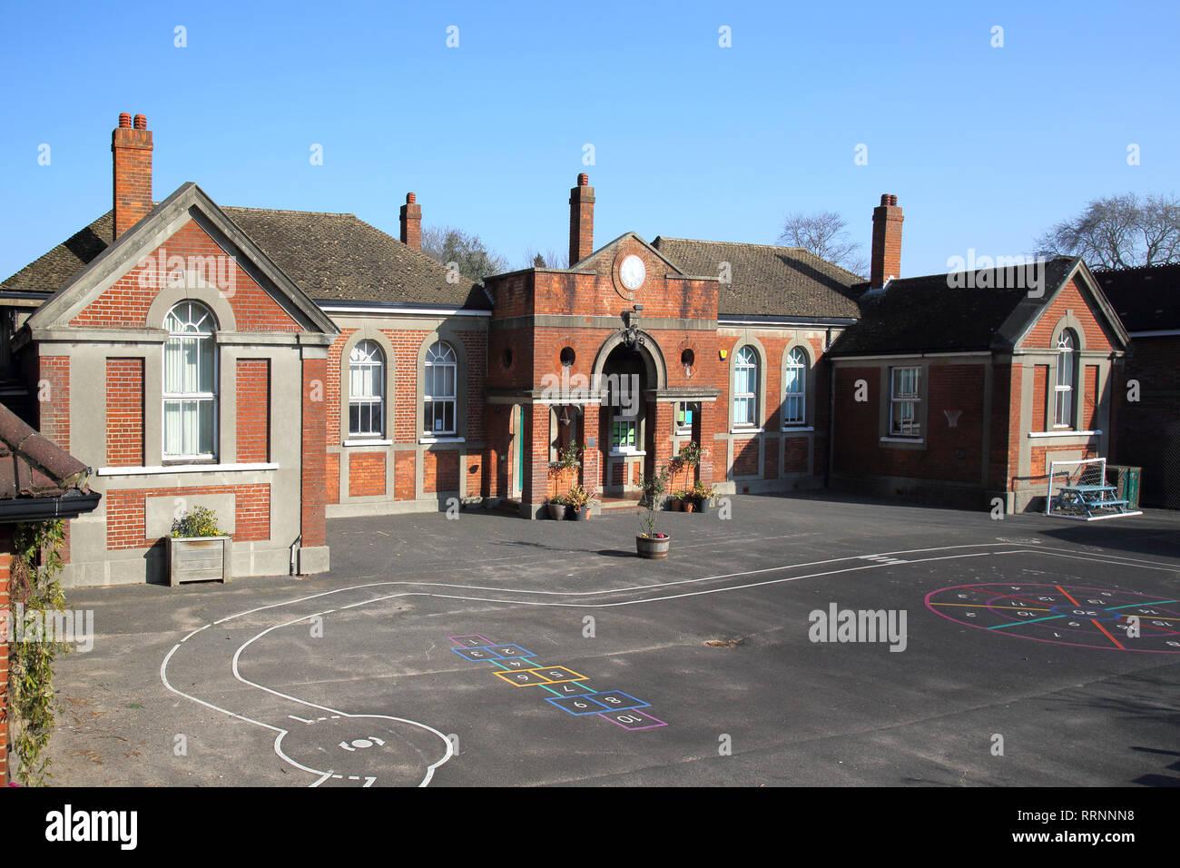 the infants school in hassocks west sussex - Stock Image