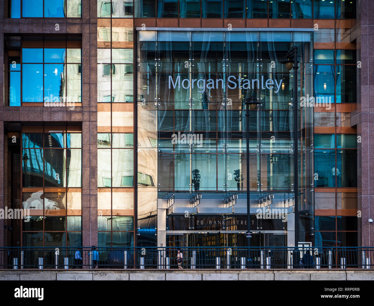 Morgan Stanley London Offices in Canary Wharf. Architects Skidmore Owings Merrill completed 2003 - Stock Image