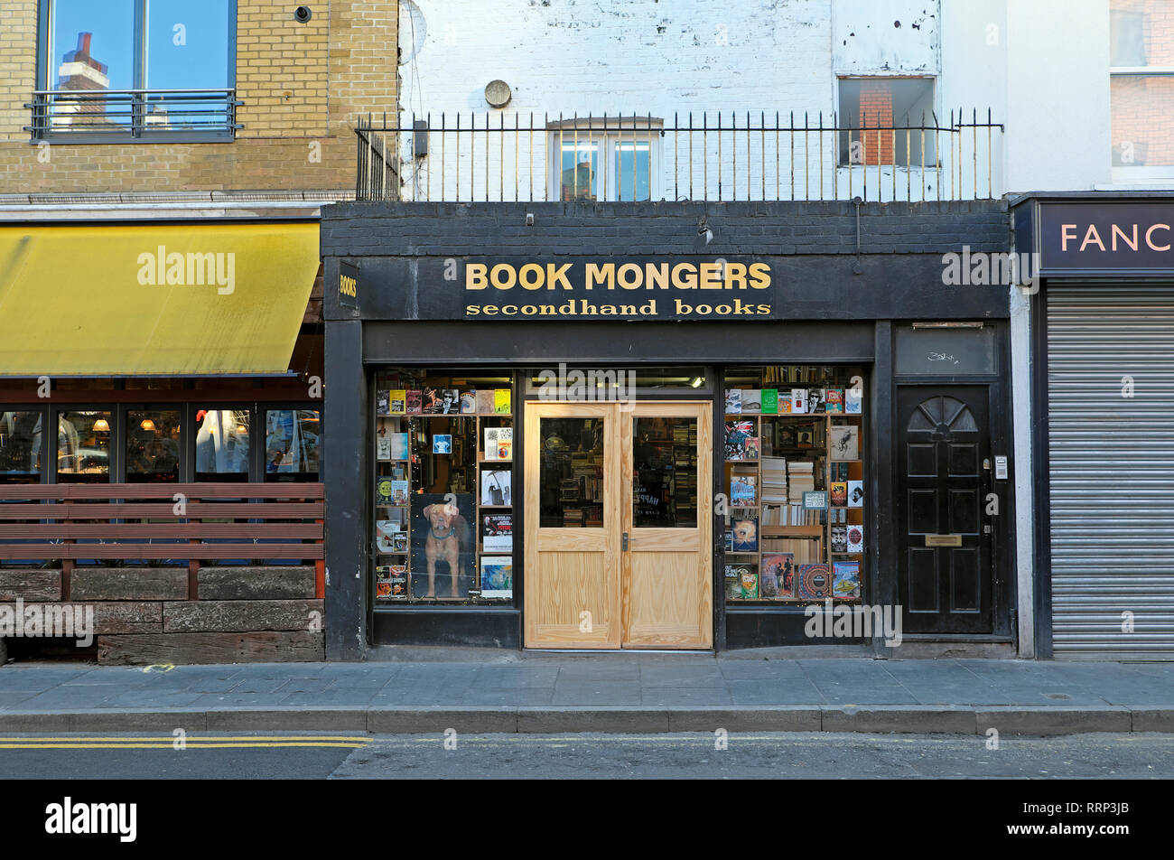 Book Mongers second hand books book shop exterior facade on Coldharbour Lane in Brixton South London SW9 England UK   KATHY DEWITT - Stock Image