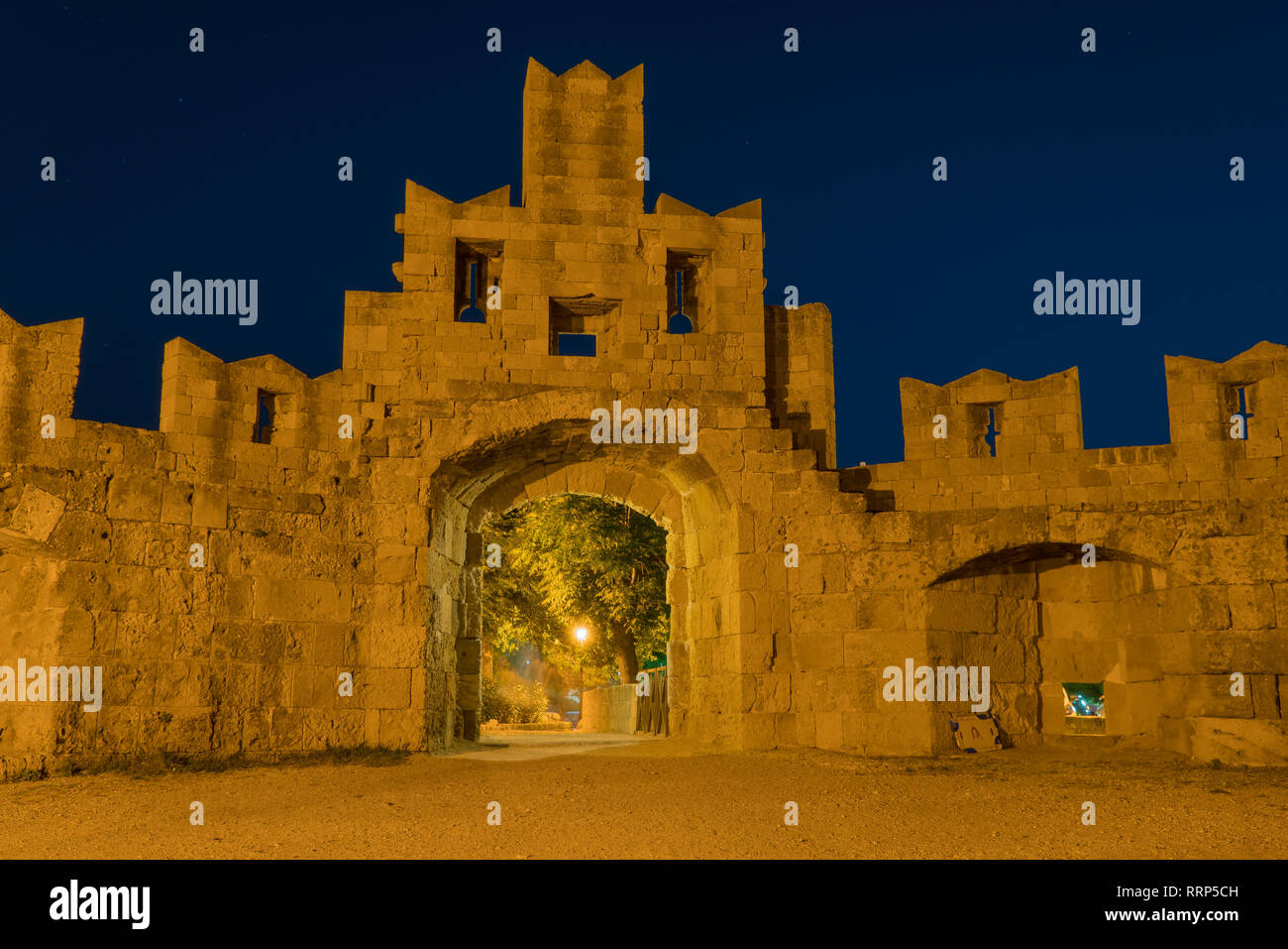 Castle on the Rhodos in greece - Stock Image