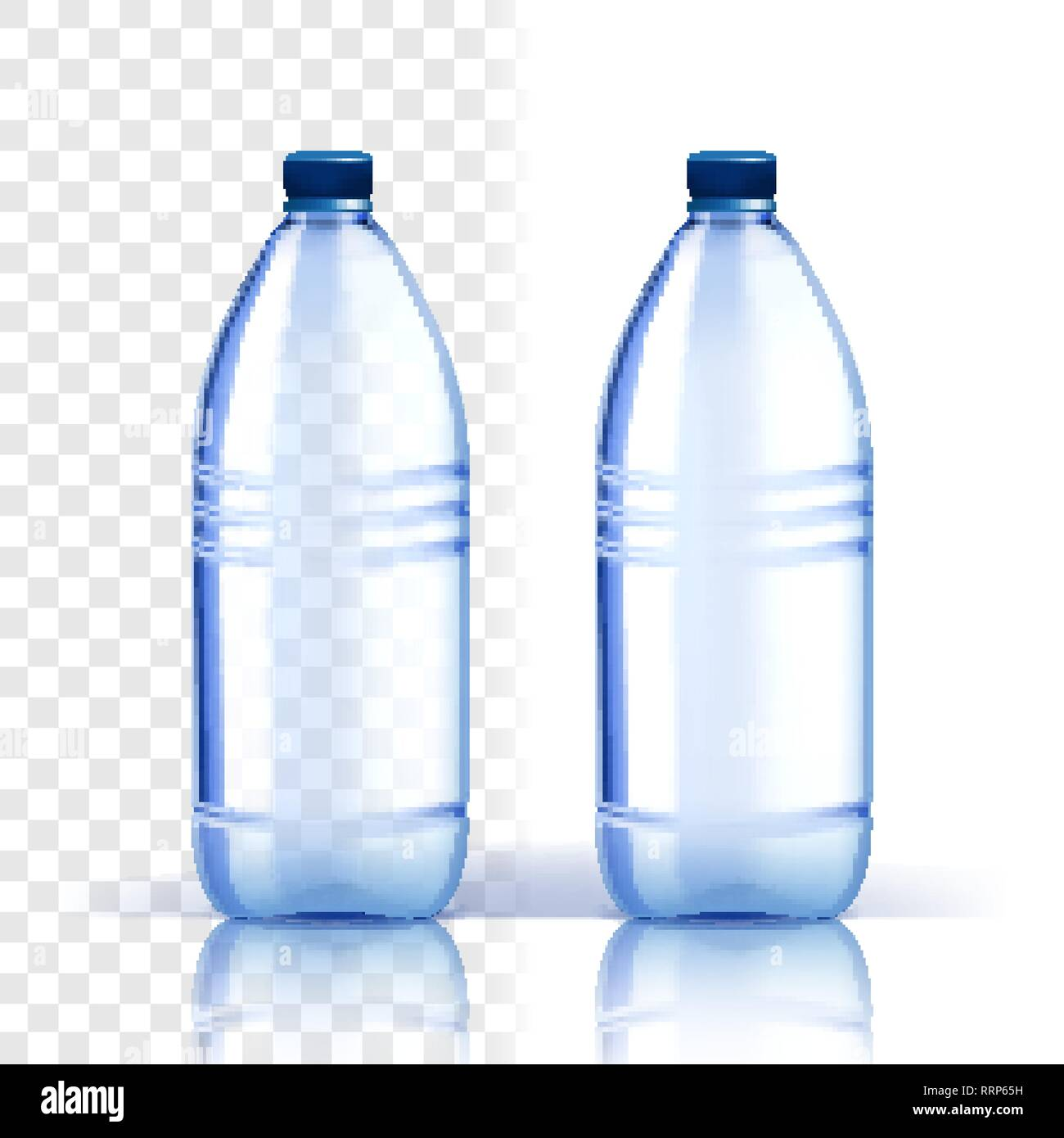 Plastic Bottle Vector  Fresh Template  Bluer Classic Water