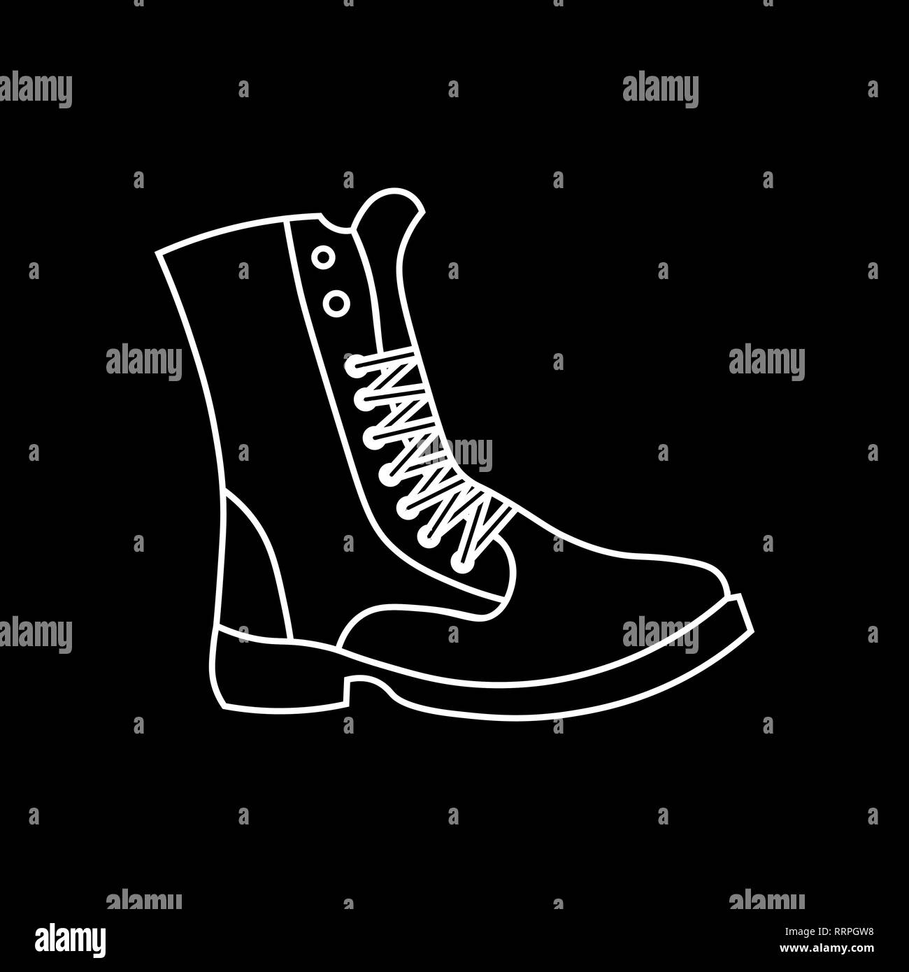 5008ac83f6 military shoes icon. Boot isolated vector icon