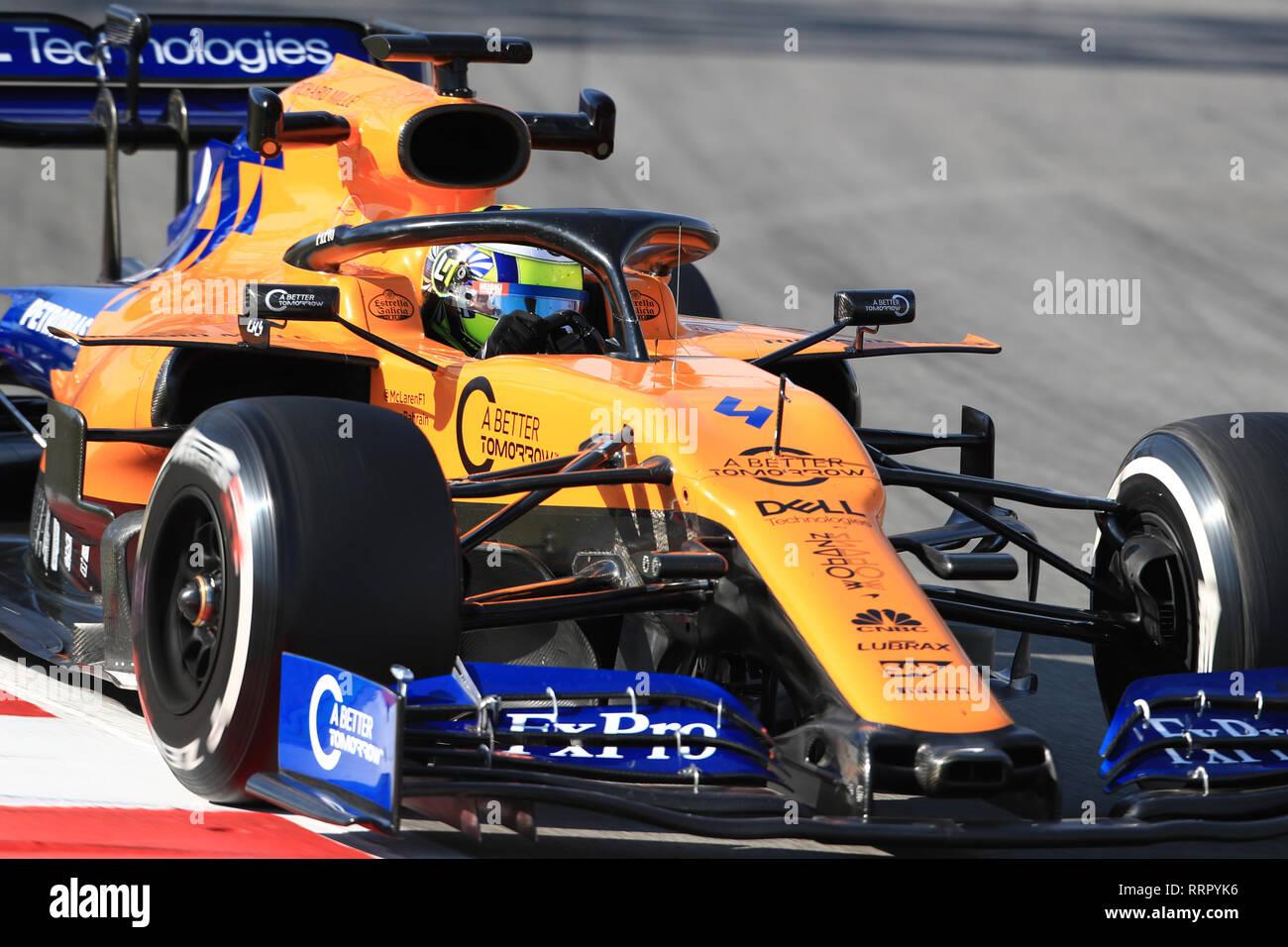 Circuit de Barcelona-Catalunya, Barcelona, Spain. 26th Feb, 2019. Formula One Testing Day 5; McLaren, Lando Norris Credit: Action Plus Sports/Alamy Live News Stock Photo