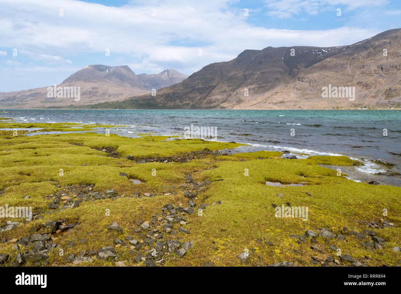 Upper Loch Torridon and Beinn Alligin, North West Highlands of Scotland, UK - Stock Image