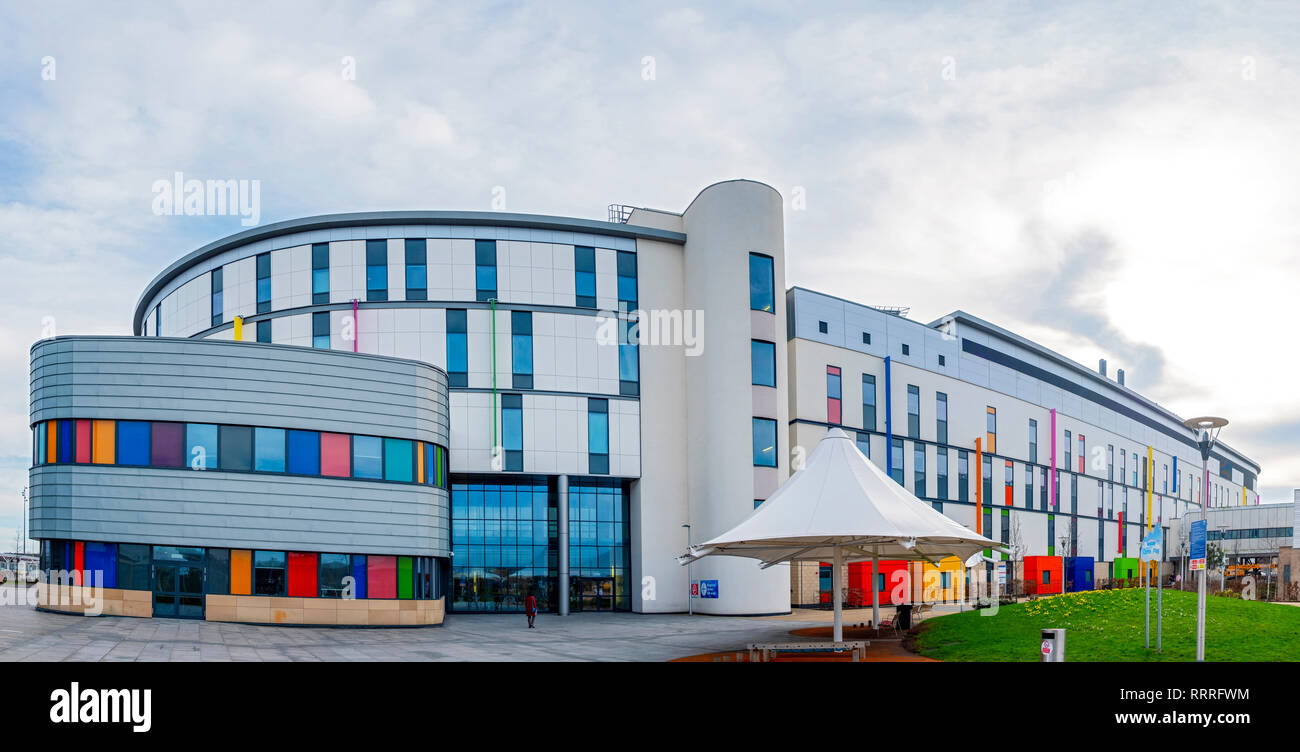 Exterior view of the new Royal Hospital for Children in Glasgow, Scotland ,UK - Stock Image