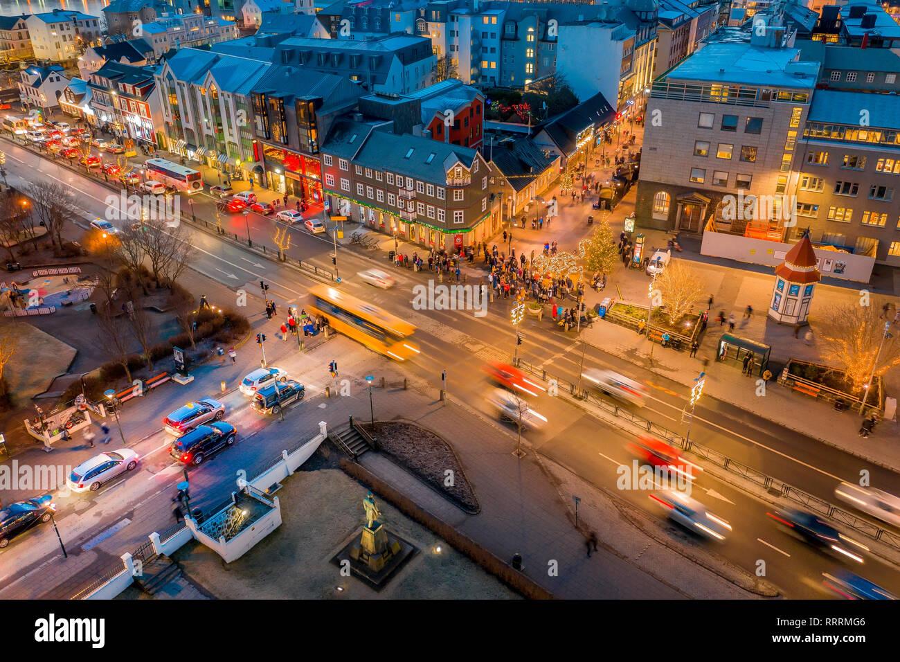 Christmas celebrations, Reykjavik, Iceland Stock Photo