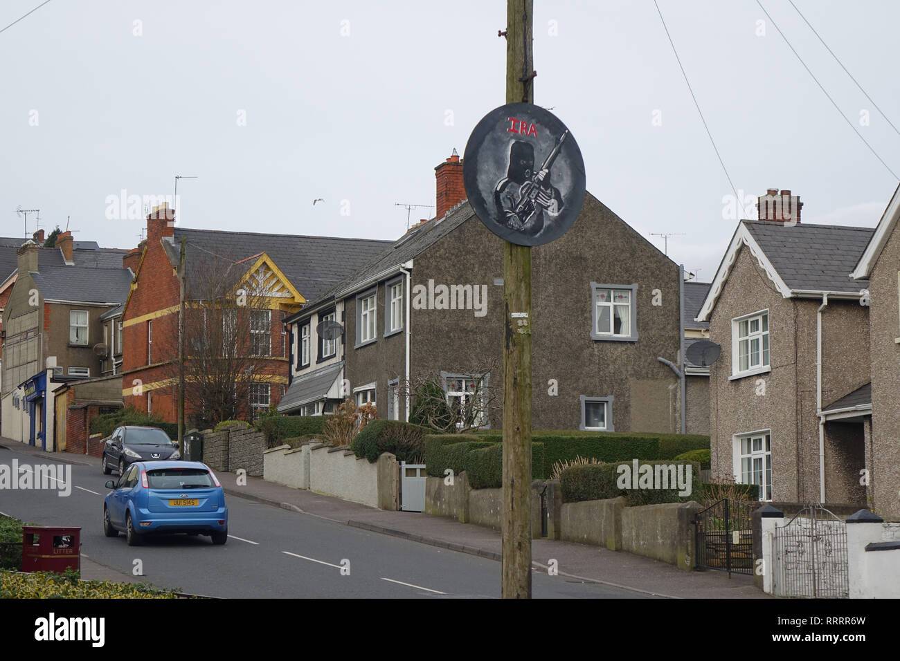 Creggan in Derry, Northern Ireland - Stock Image