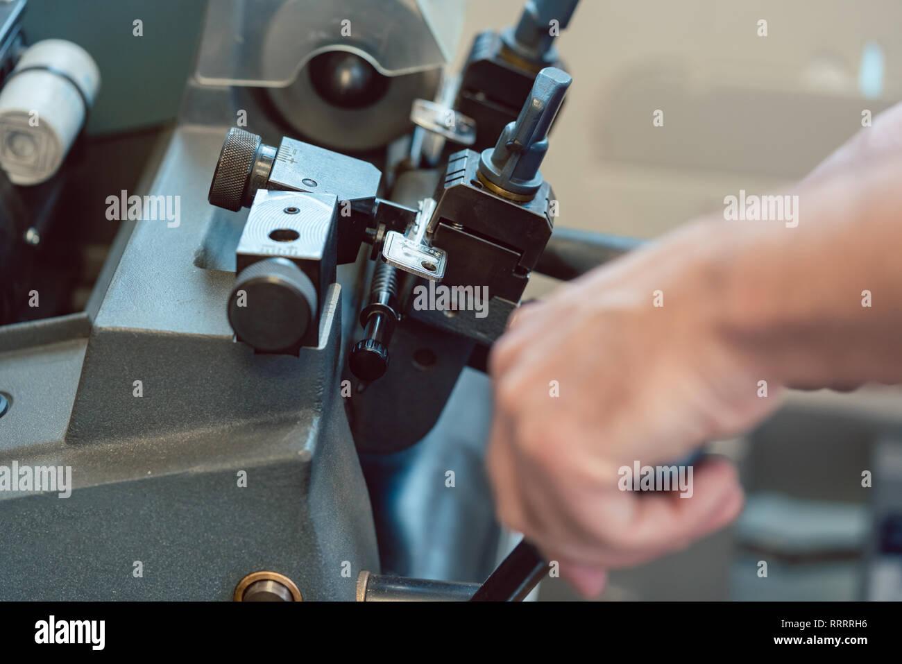Man copying key - Stock Image