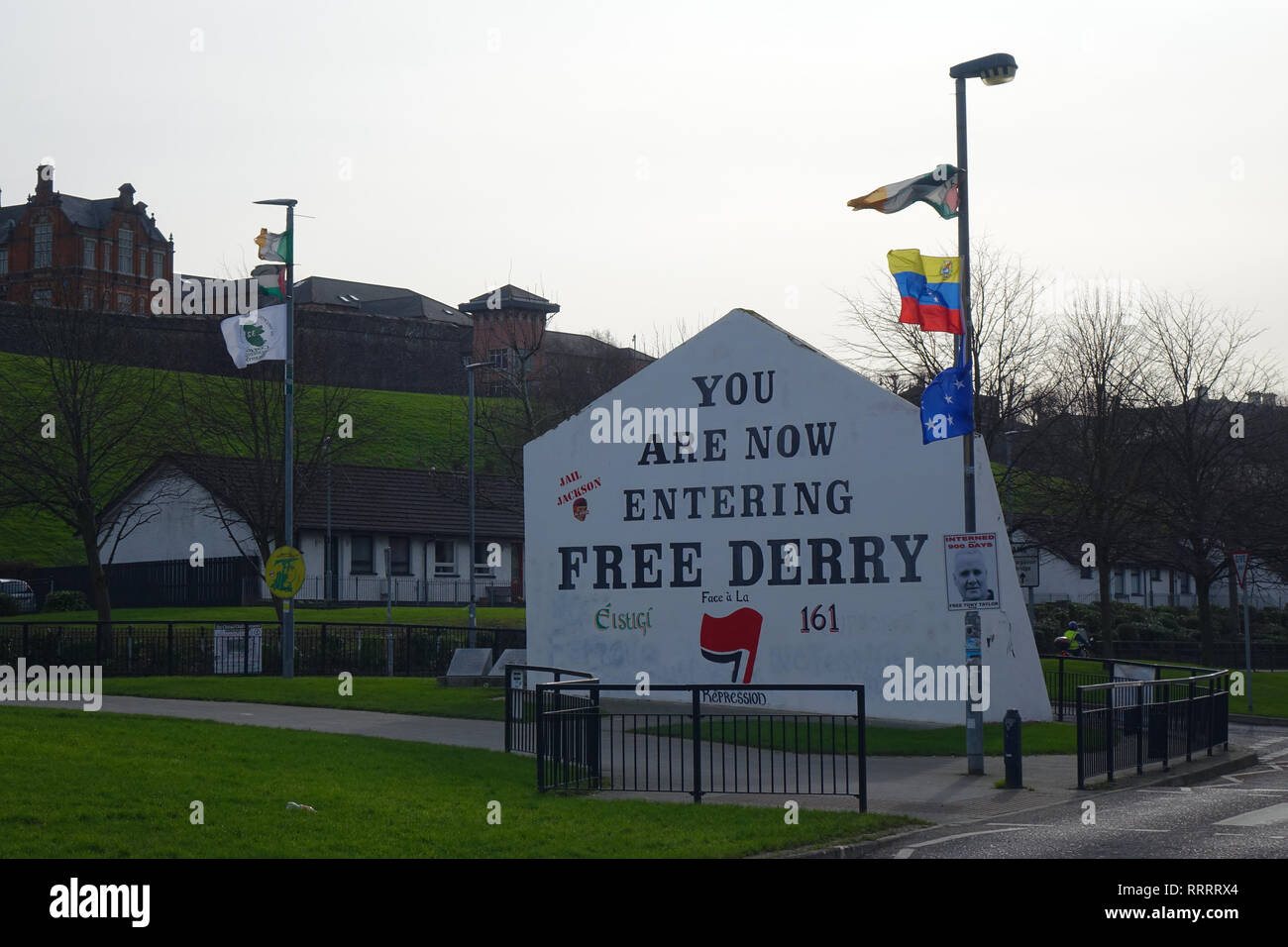 Bogside in Derry, Northern Ireland Stock Photo