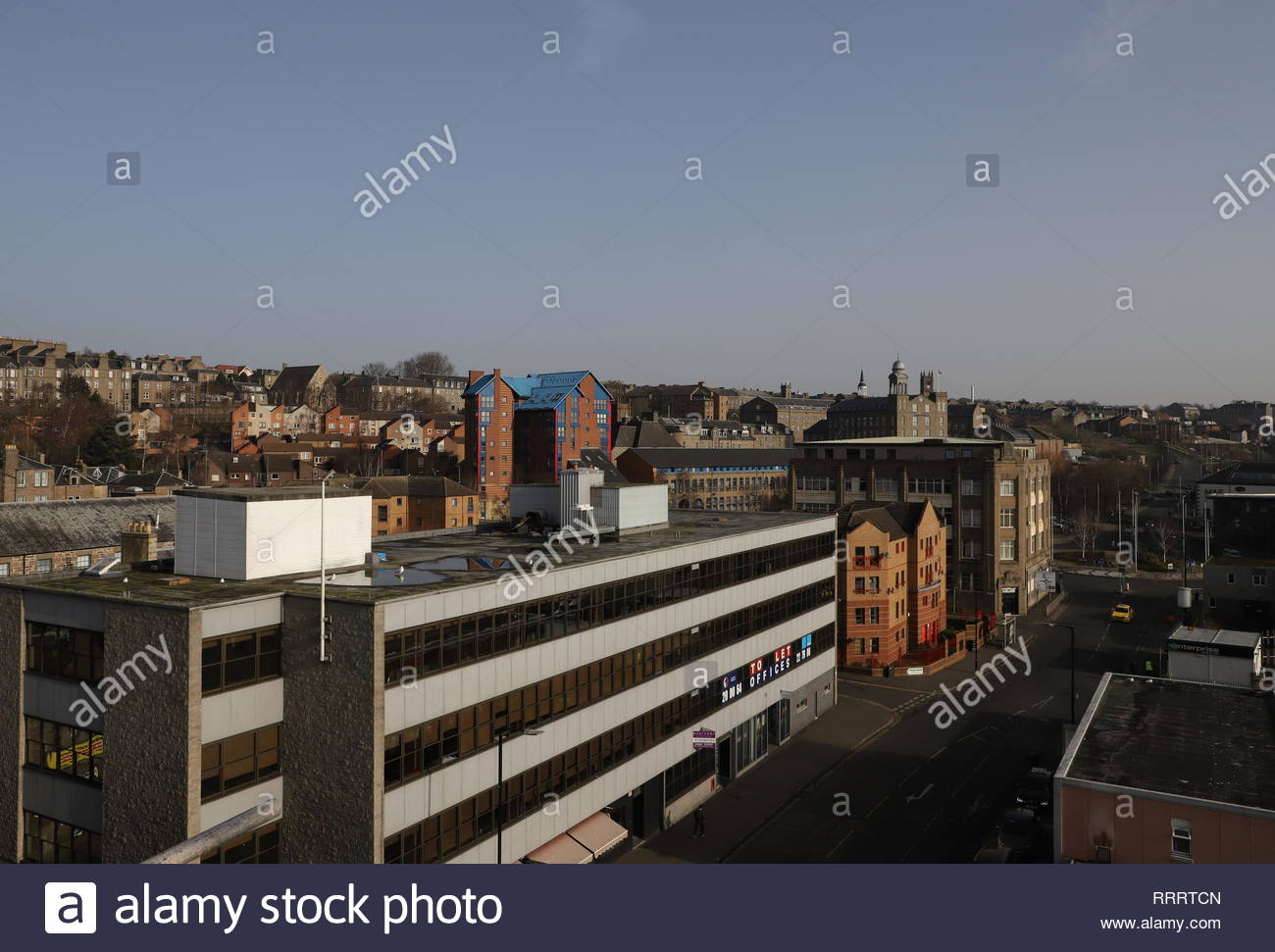 Elevated view of Seagate Dundee Scotland  February 2019 Stock Photo