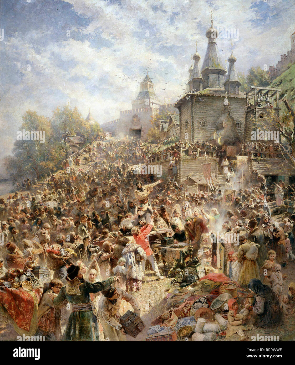 Appeal of Minin - Konstantin Makovsky, 1896 - Stock Image