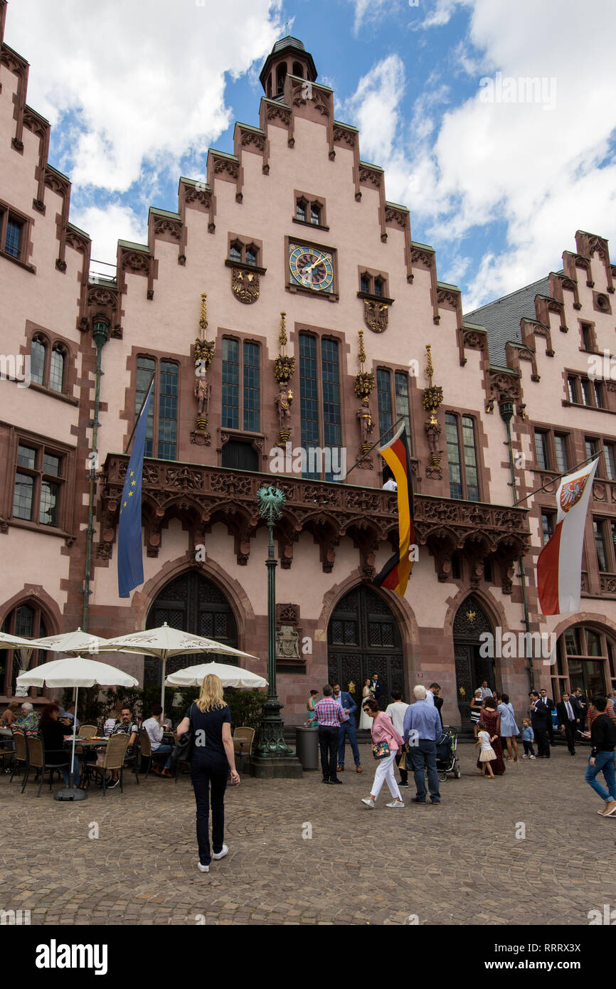 Europe Germany Hesse Rhine-Main Frankfurt Historic Old Town Römer Stock Photo
