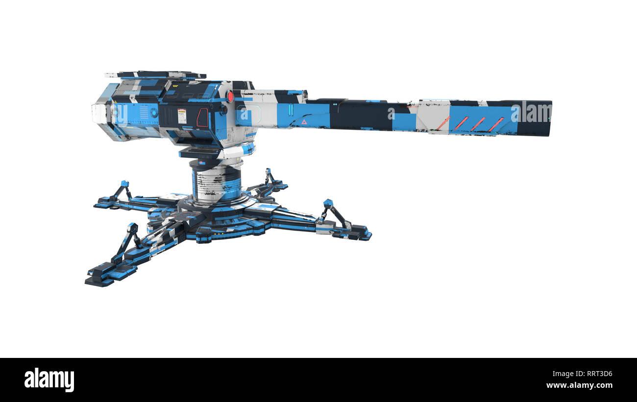 Sci-fi Turret - 3D Rendering - Stock Image