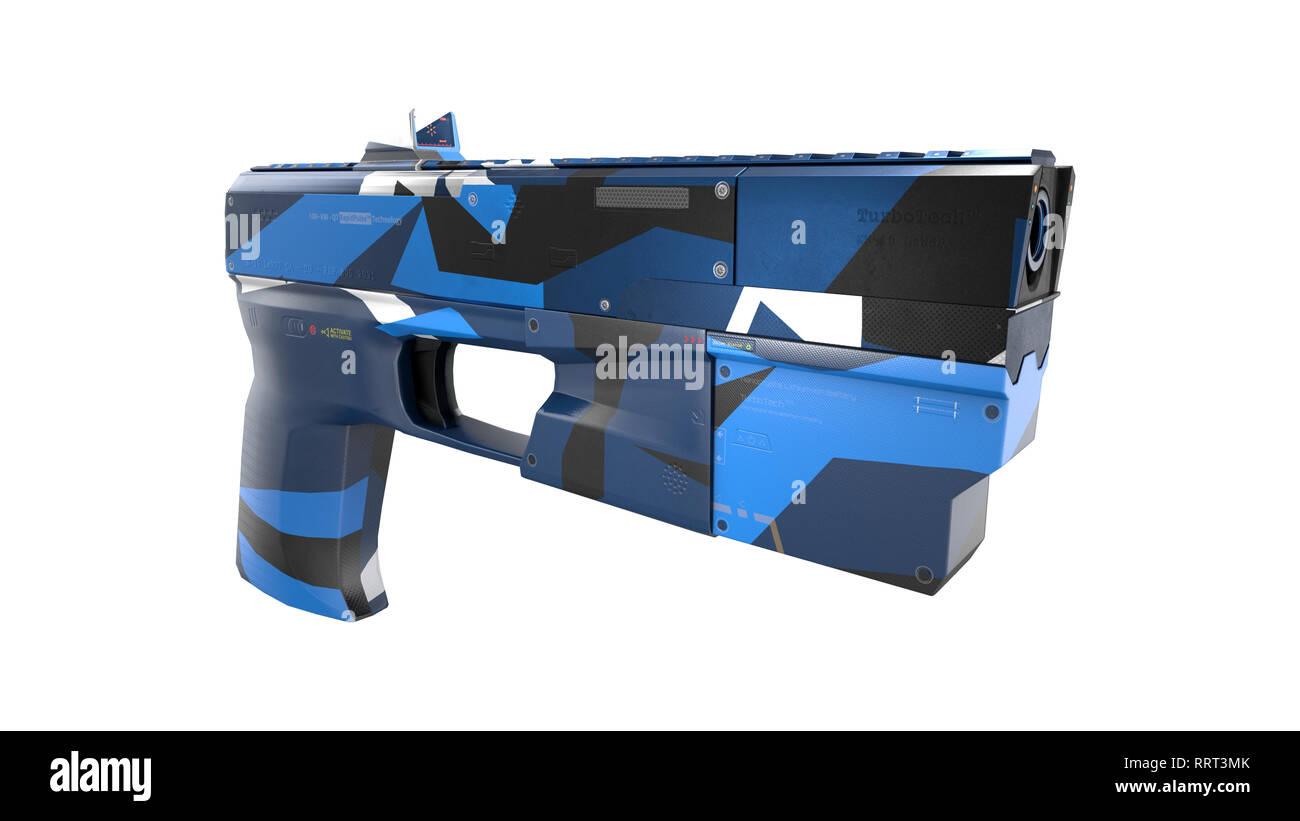 Scifi Gun - 3D Concept - Stock Image