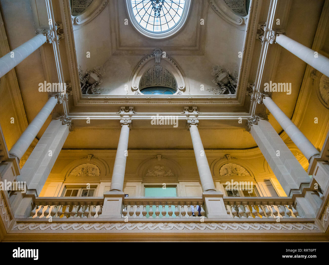 Buenos Aires, Argentina - October 21, 2015: Interior of the San Martin Palace (Palacio San Martin) serves as the Ceremonial Headquarters for the Minis - Stock Image