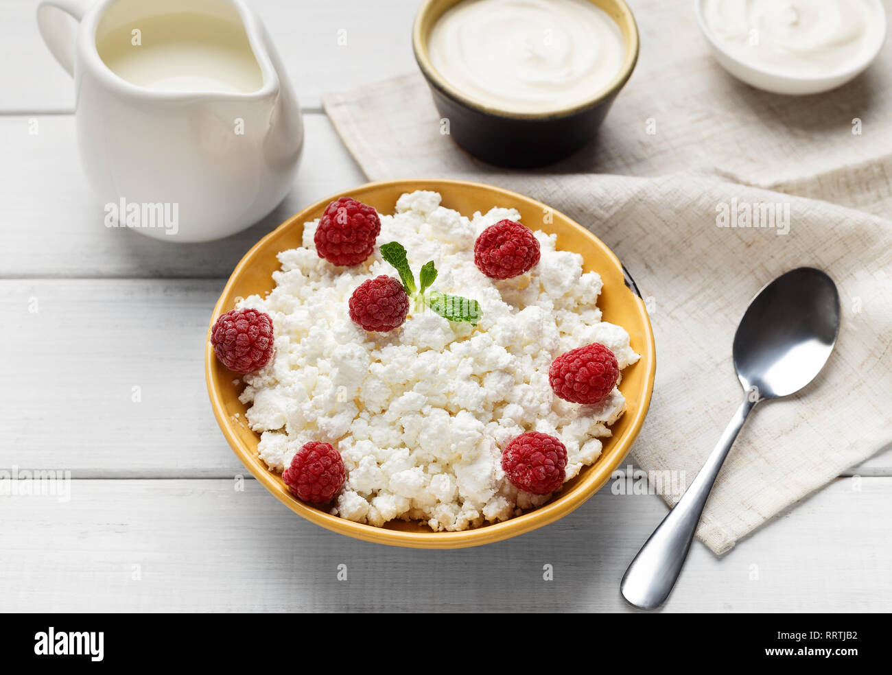 Milk products composition - Stock Image