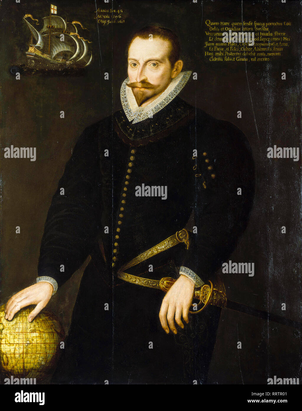 Sir James Lancaster (1554/5-1618), portrait painting,1596 - Stock Image