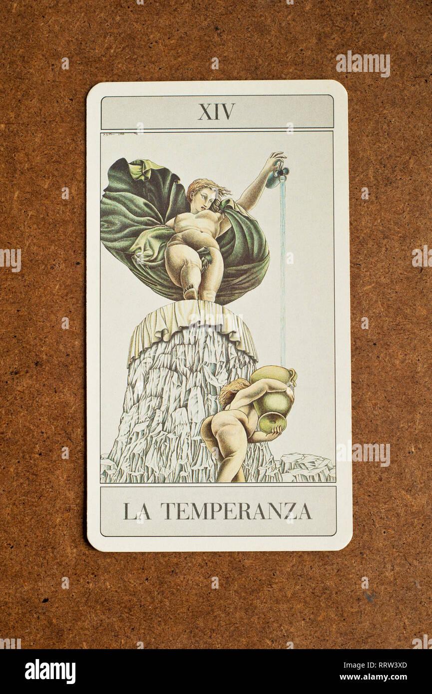 Temperance Tarot Card Stock Photos & Temperance Tarot Card