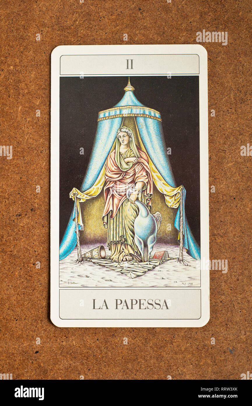 High Priestess Tarot Card Stock Photos & High Priestess
