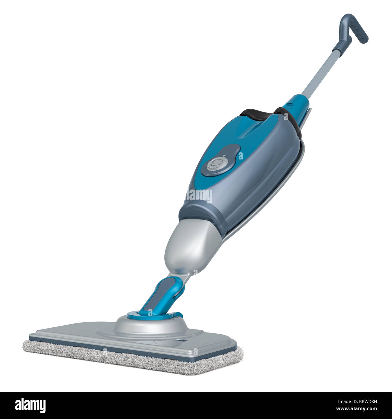 Steam mop, 3D rendering isolated on white background - Stock Image