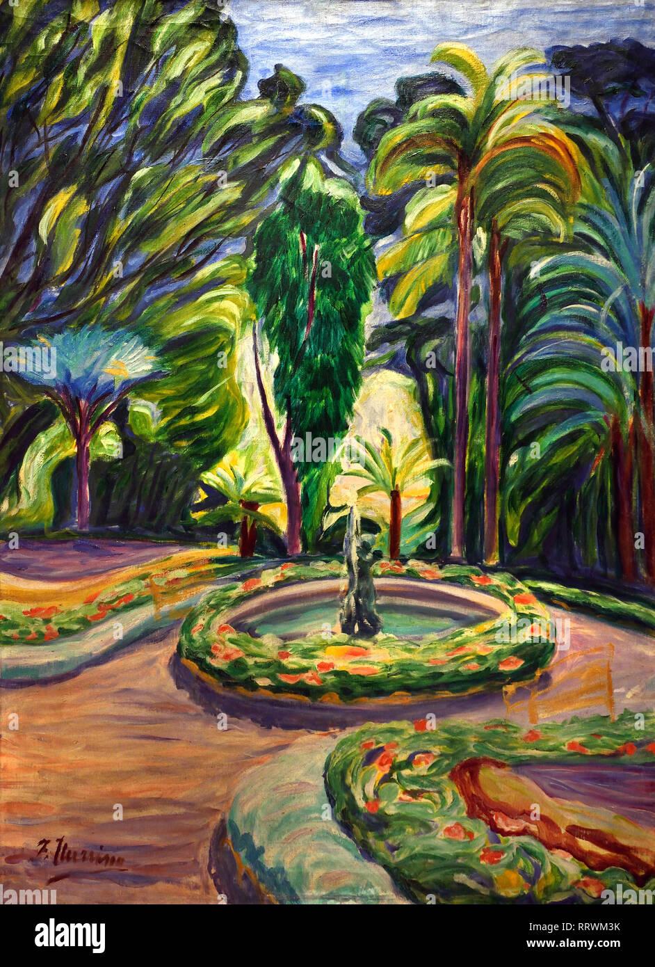 Garden of la Concepcion 1913-1919 Francisco Iturrino (1864-1924) Spain, Spanish - Stock Image