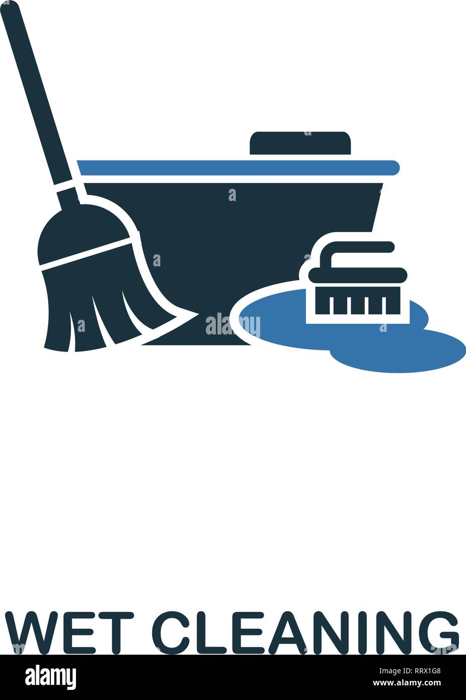 Wet Cleaning icon. Creative two colors design from cleaning icons collection. UI and UX usage. Illustration of wet cleaning icon. Pictogram isolated - Stock Vector