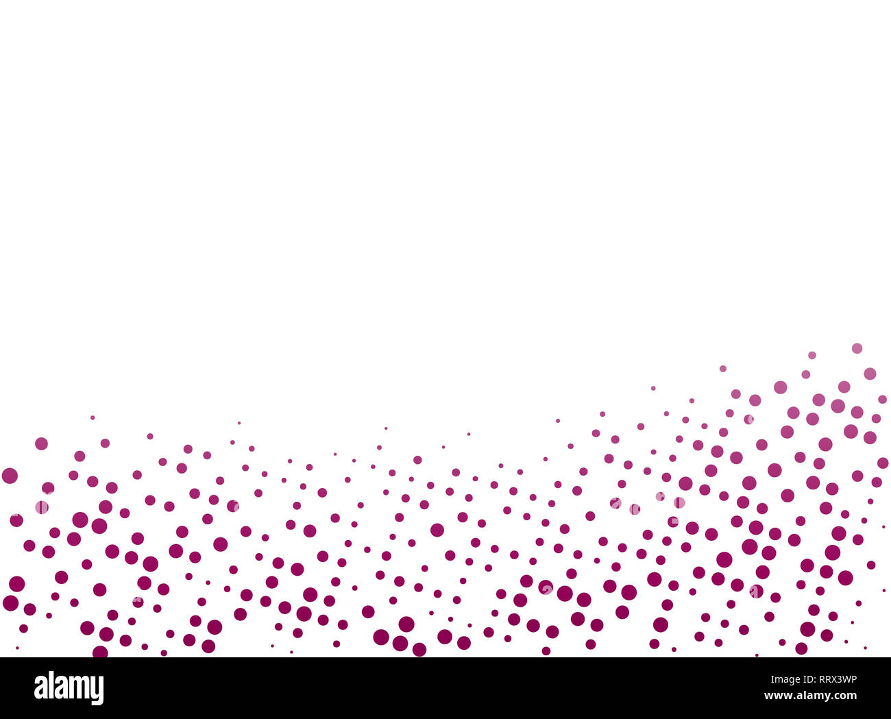 Burgundy red abstract dotted background with copy space and clipping path. Creative halftone pattern, design template and illustration on white. - Stock Image