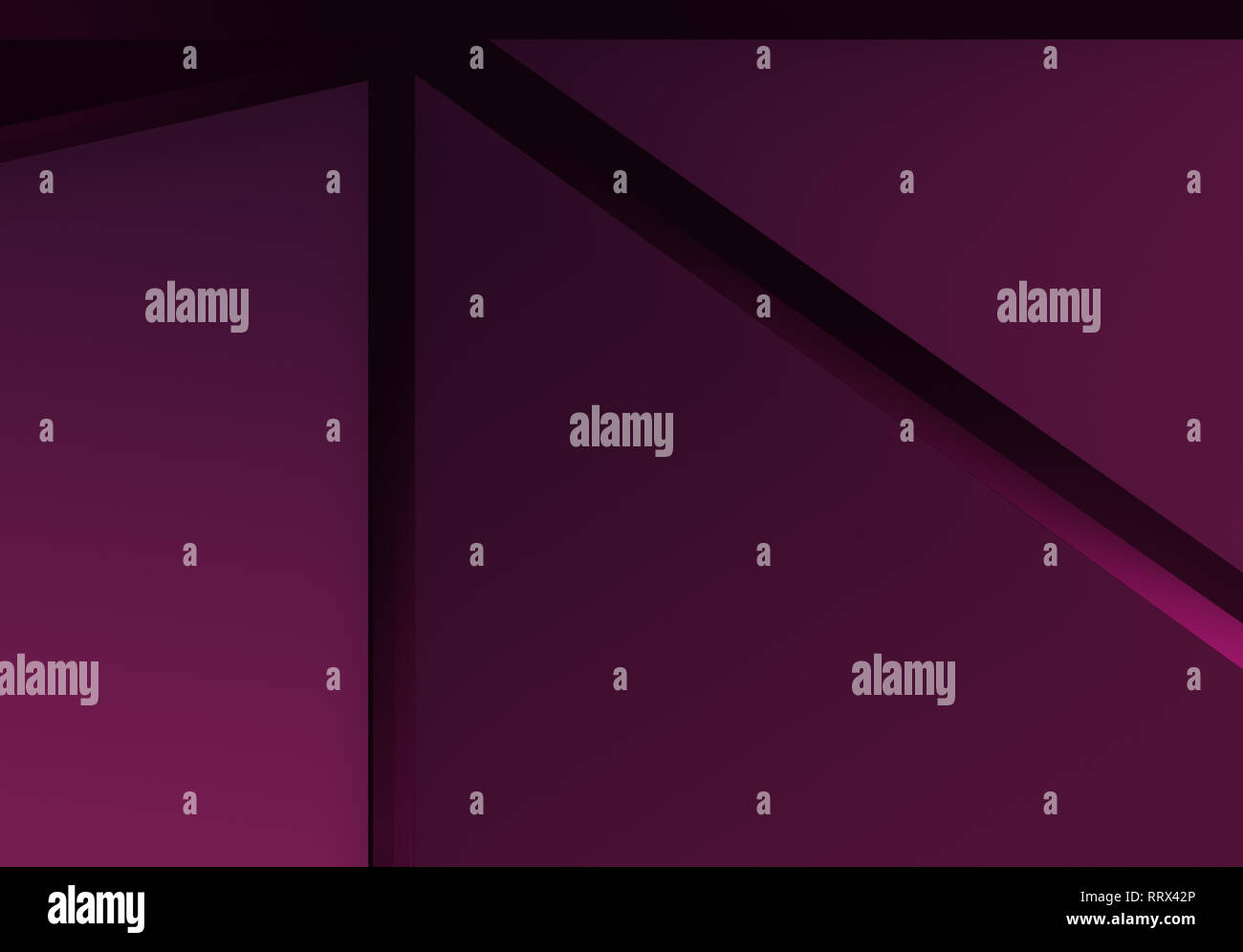 Abstract purple and pink polygonal vector background. Geometric vector illustration, creative design template. - Stock Image
