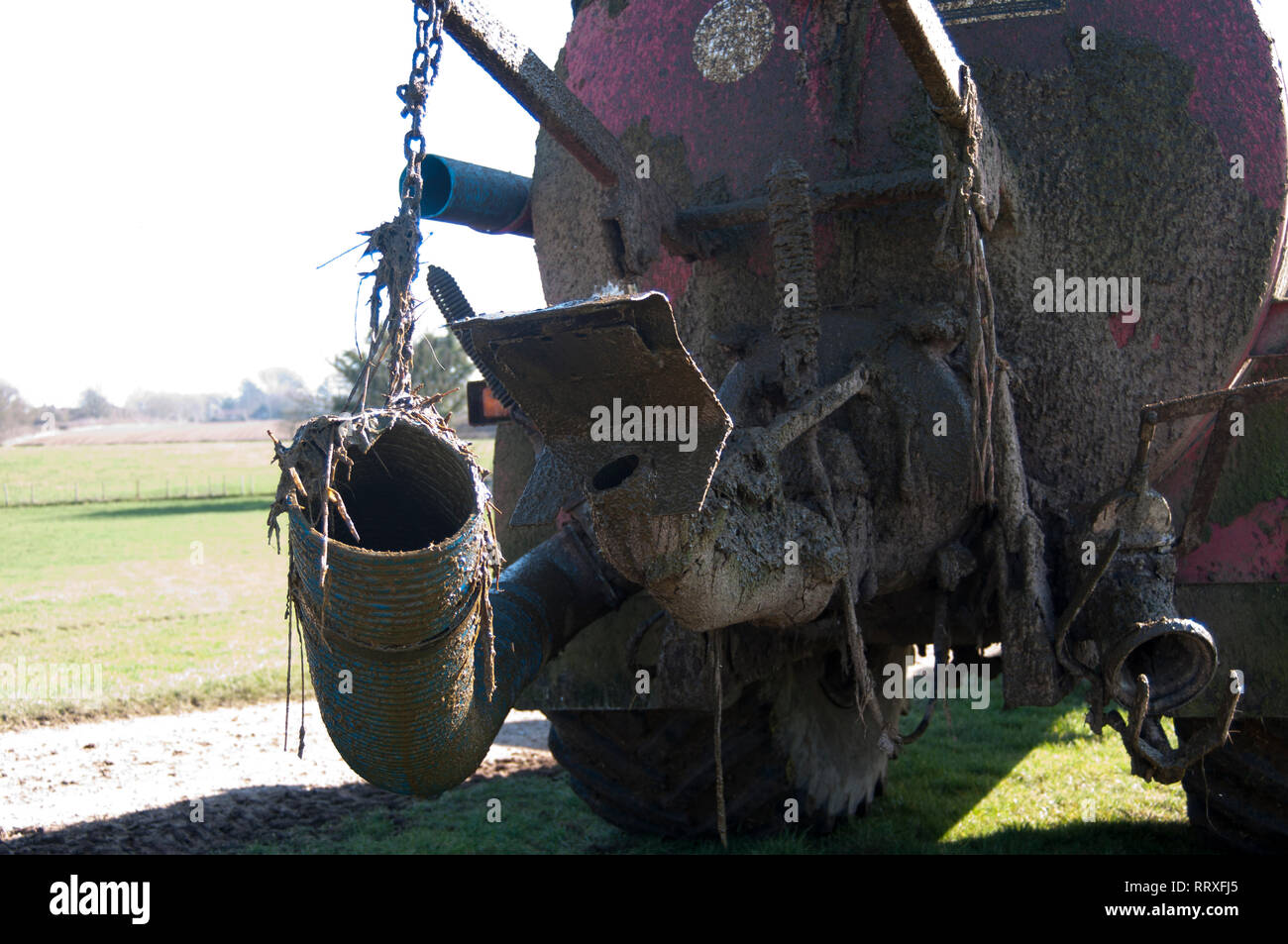 Muck Spreader Close Up - Stock Image