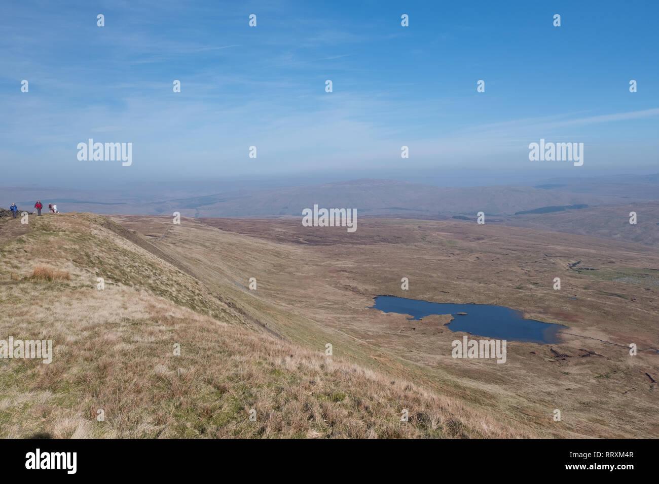 Greensett Moss Tarn on the slope of Whernside in the Yorkshire Dales - Stock Image