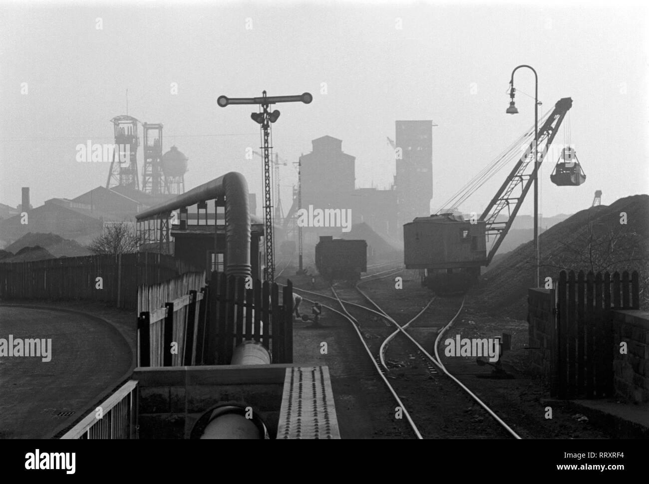 Germany - Deutschland ca. 1950, Ruhrgebiet, Bergwerk bei Kamen. - Stock Image