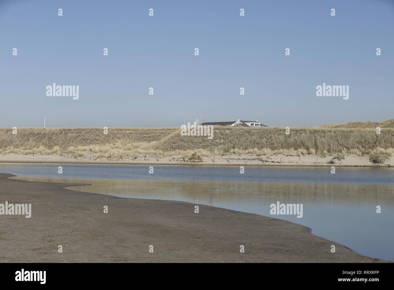 A lagune at the beach - Stock Image
