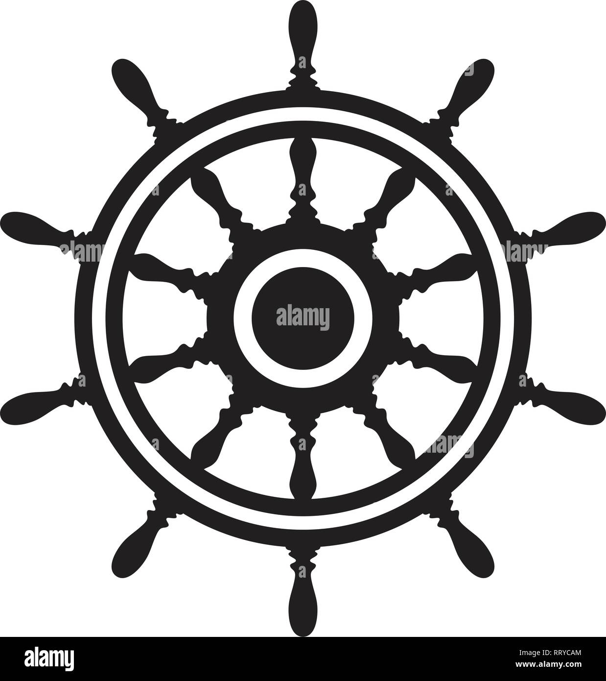 Vector Steering Wheel Of A Ship Boat Or Yacht Isolated On White Background Rudder Direction Concept Nautical Or Travel Symbol Wooden Steer Wheel Stock Vector Image Art Alamy