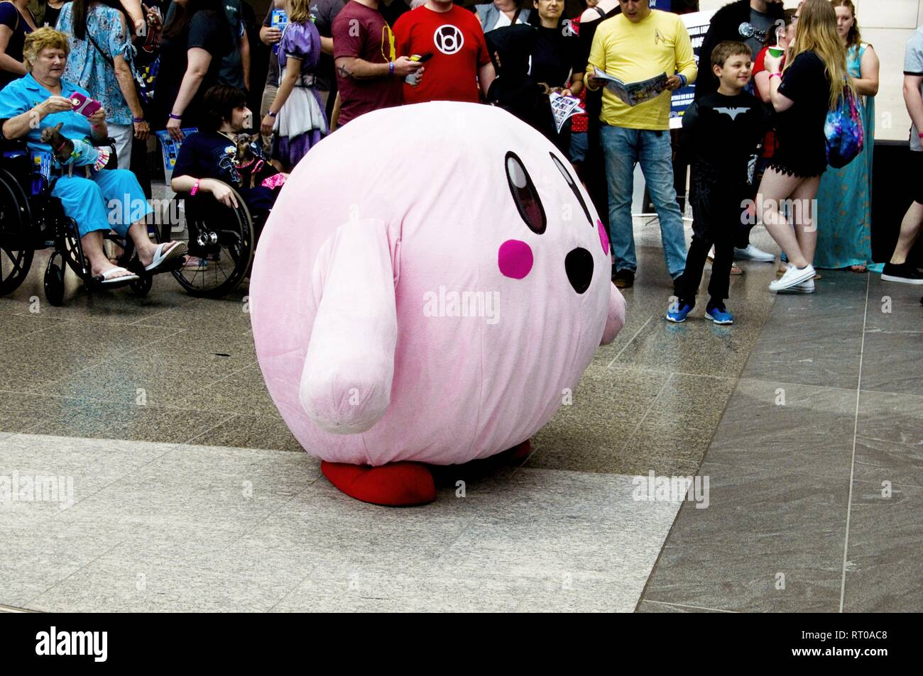 Kirby Cosplayer at Supercon (Raleigh Convention Center) Raleigh North Carolina, July 27th, 2018 - Stock Image