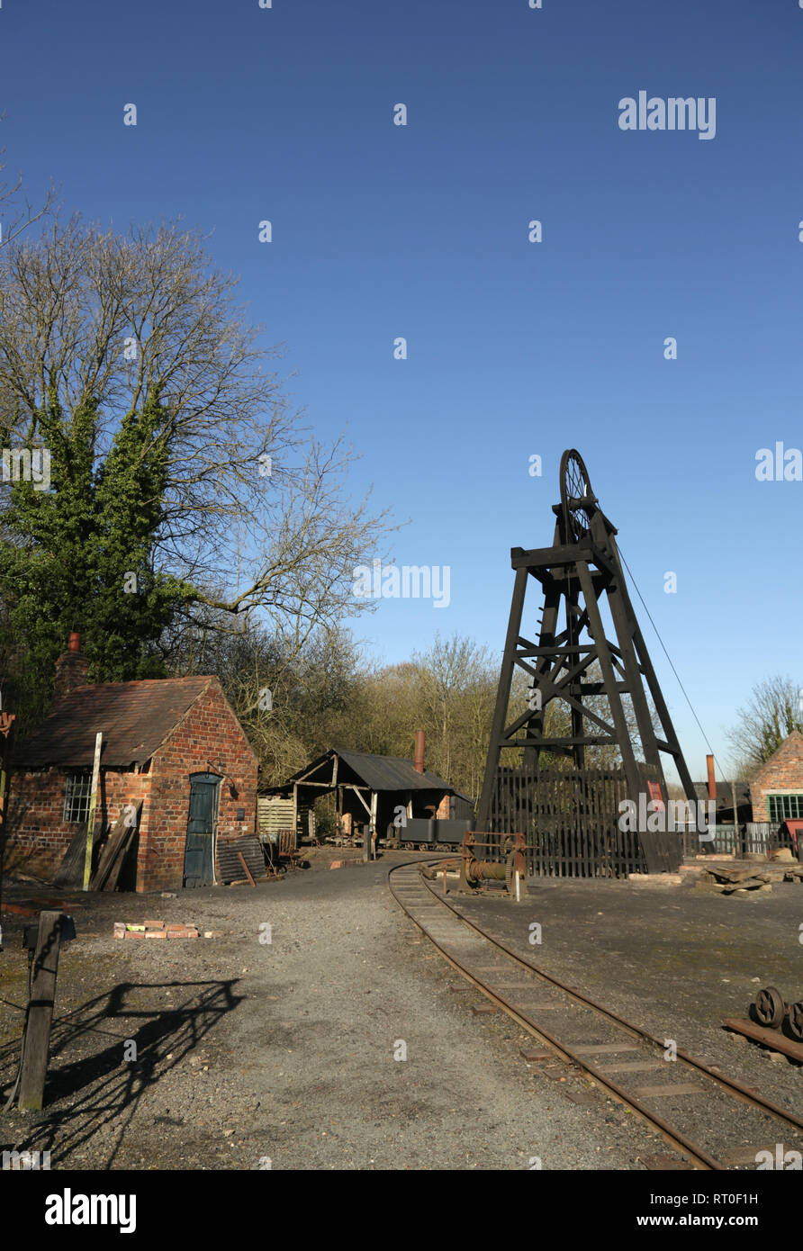 View of the coal mine at the Black country living museum, Dudley, West midlands, England, UK. - Stock Image