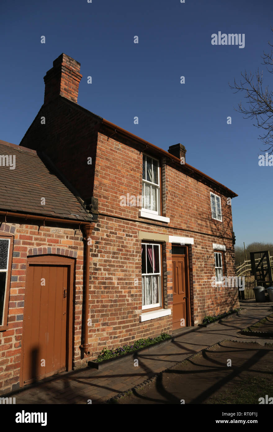 A cottage at the Black country living museum, Dudley, West midlands, England, UK. - Stock Image