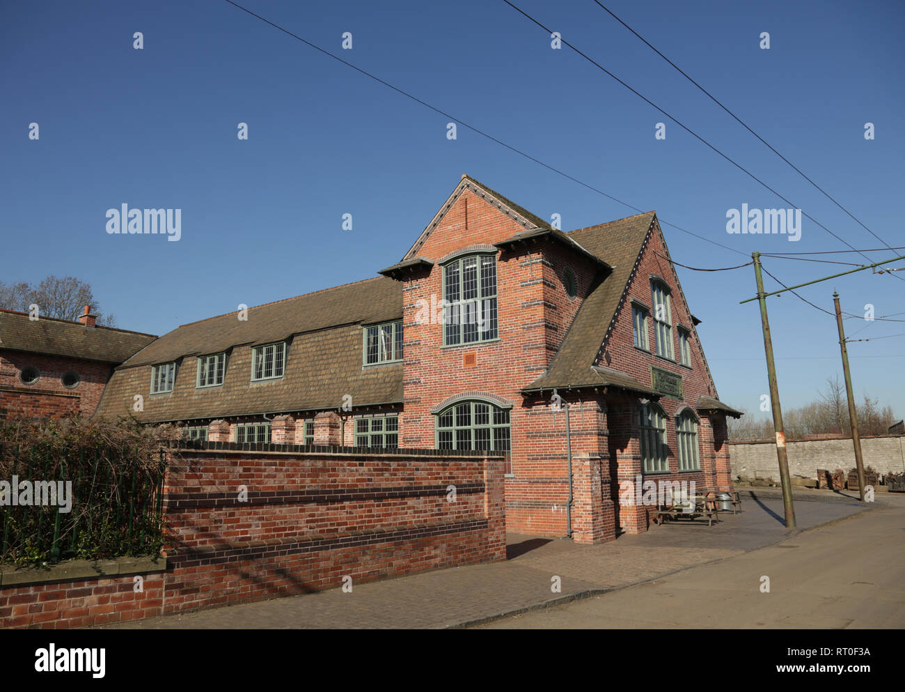 The workers institute building at the Black country living museum, Dudley, West midlands. England, UK. - Stock Image