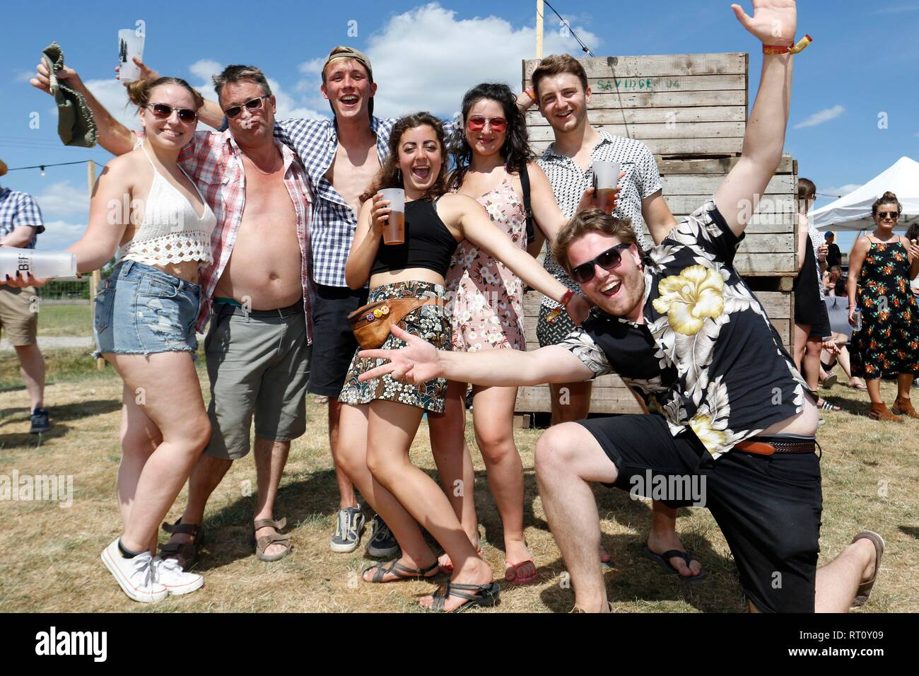 Good times at the Barn On The Farm festival, at Over Farm, near Gloucester, this weekend.  7th July 2018  Picture by Andrew Higgins - Thousand Word Me - Stock Image