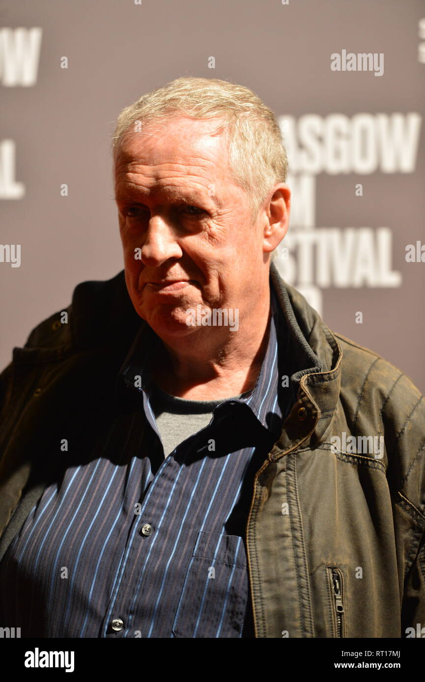 Glasgow, UK. 26th Feb, 2019. Renowned Artist, Peter Howson, seen on the red carpet at the Premier of the film, Prophecy, at the Glasgow Film Theater. Credit: Colin Fisher/Alamy Live News - Stock Image