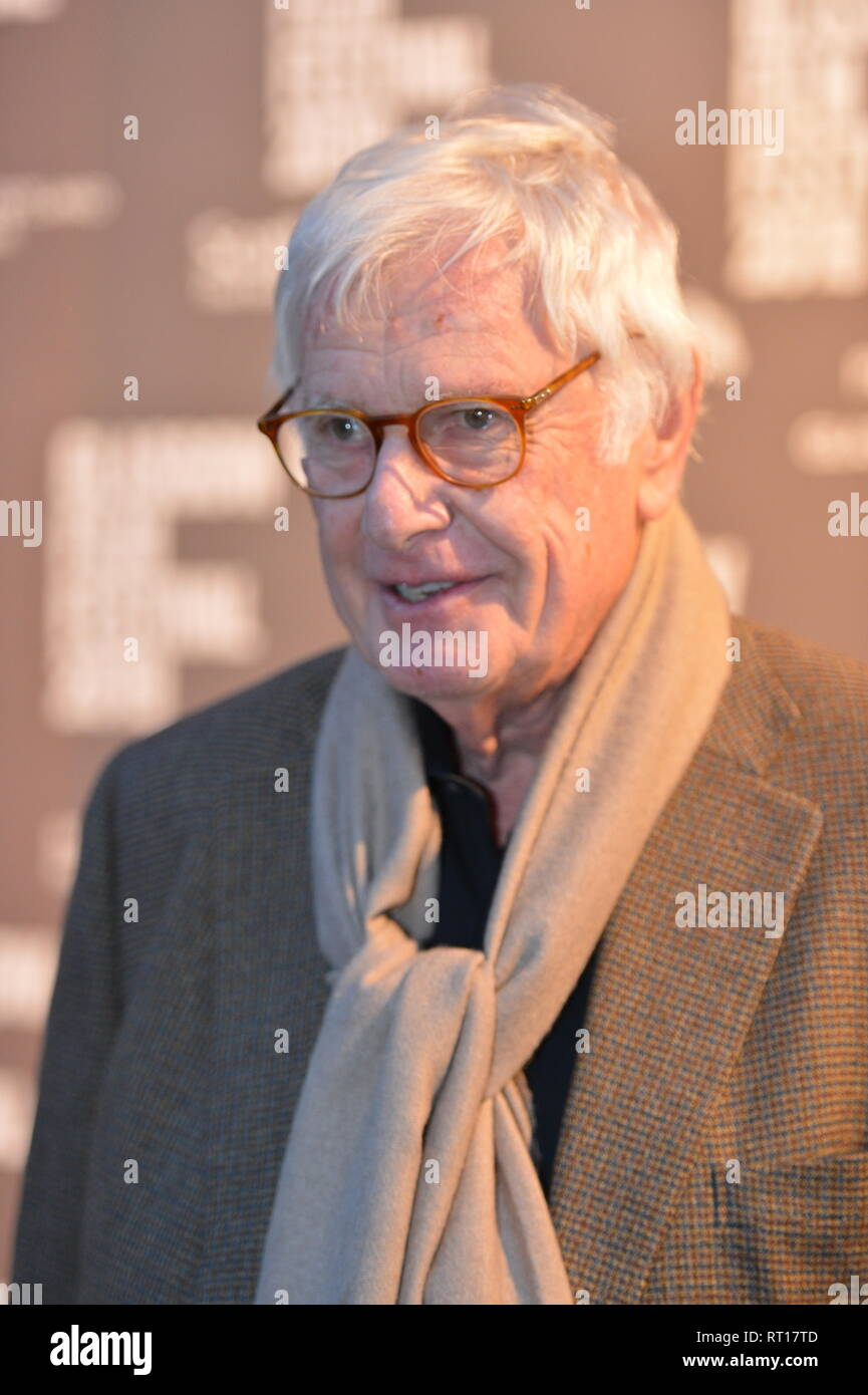 Glasgow, UK. 26th Feb, 2019. Director - Peter Medak seen on the red carpet Glasgow Film Festival for the Premier of The Ghost Of Peter Sellers. Credit: Colin Fisher/Alamy Live News - Stock Image