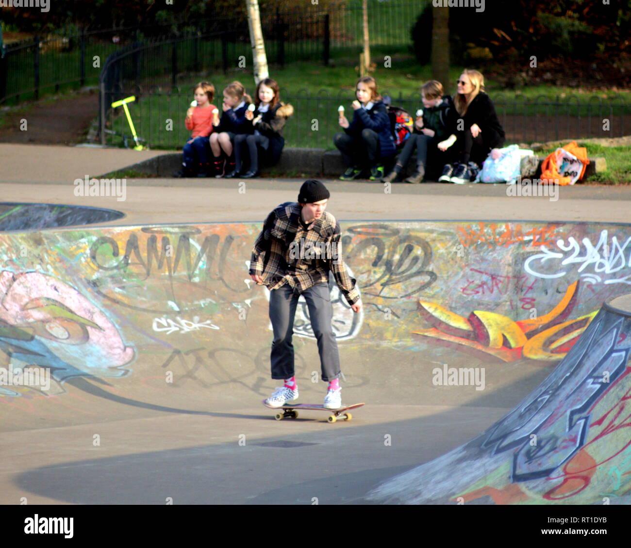 kelvingrove skatepark stock photos  u0026 kelvingrove skatepark