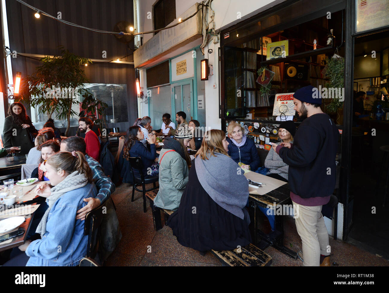 port Sa'id bar and restaurant in Tel-Aviv. - Stock Image