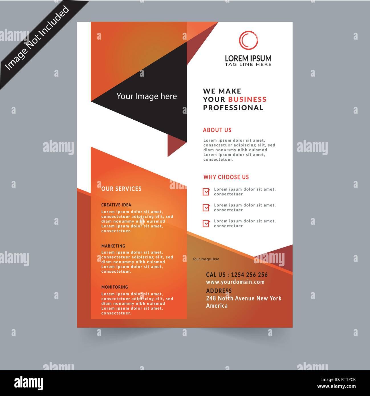 Corporate Business Flyer - Stock Vector