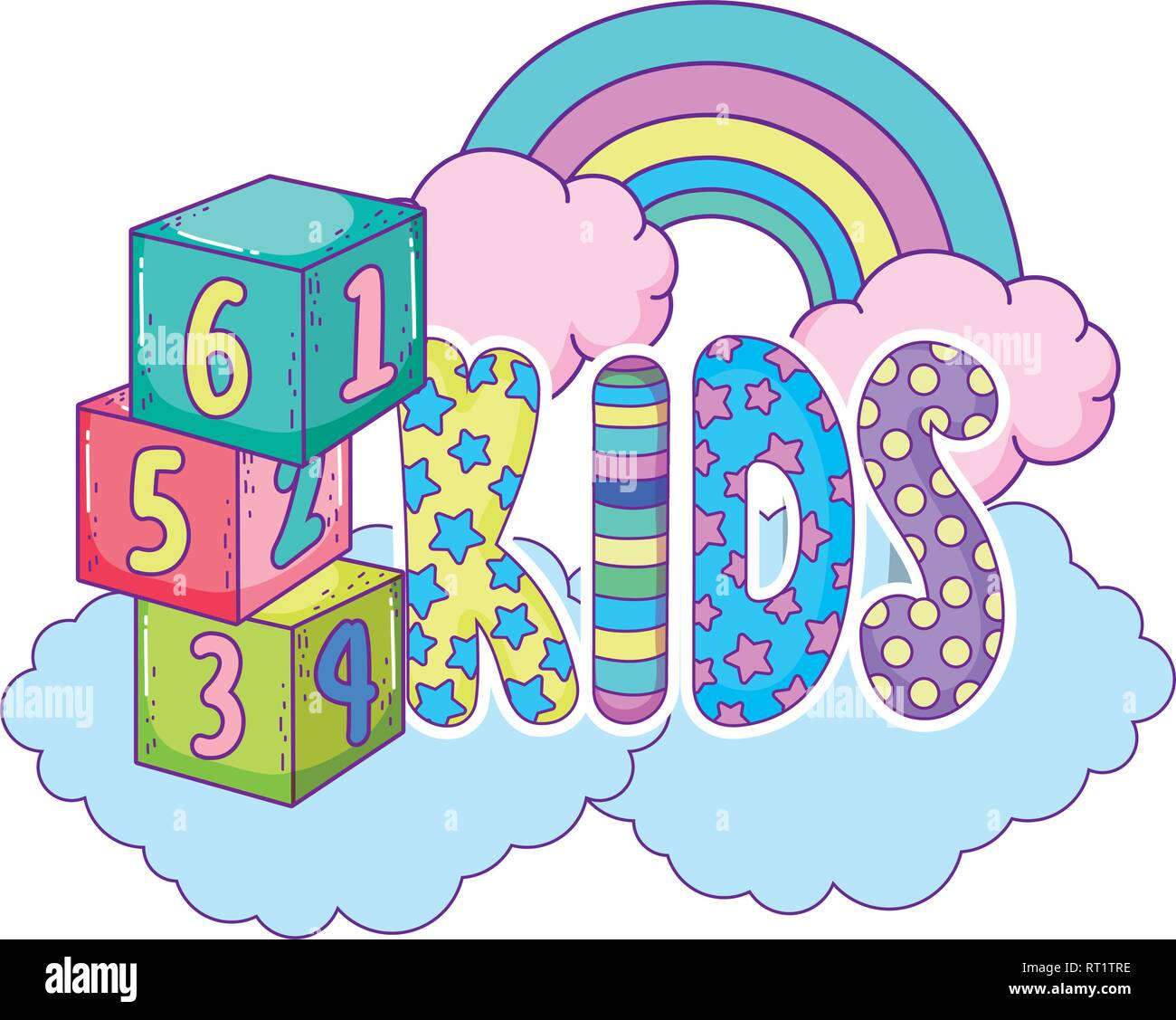 8 letter word starting with tre rainbow letters stock photos amp rainbow letters stock 26763 | cute kids word with rainbow RT1TRE